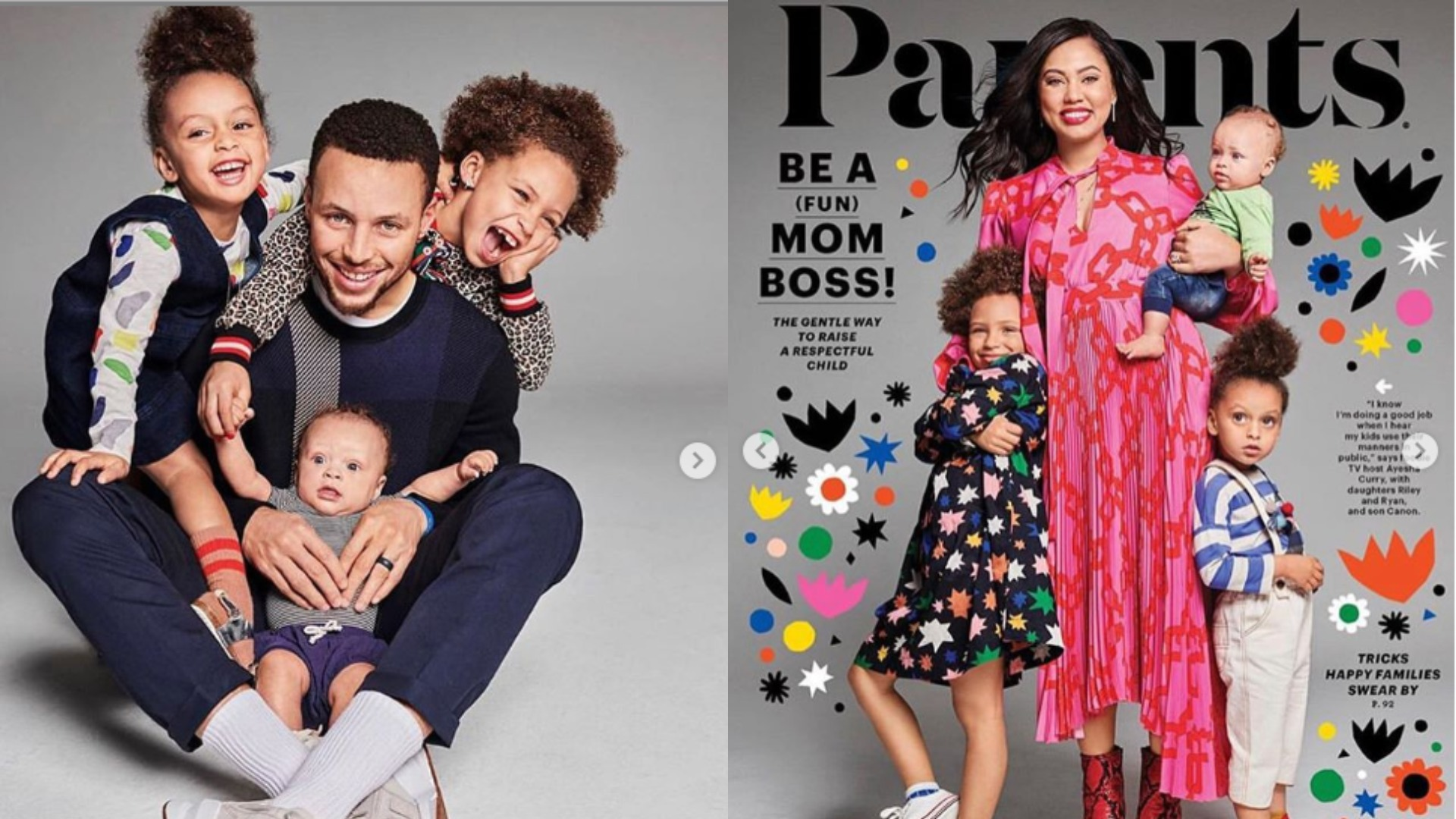 stephen curry and his family cover parents magazine